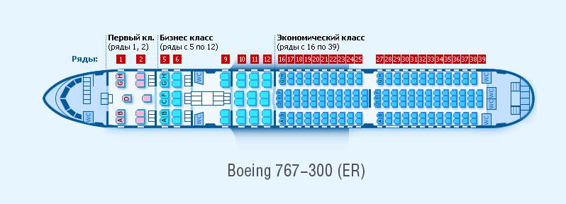боинг 767 300 схема азур